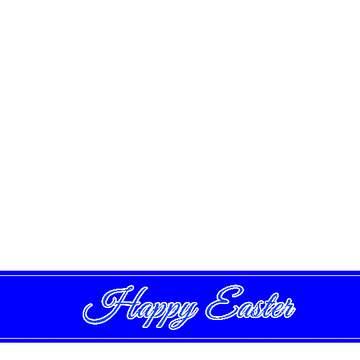 Happy Easter blue lettering label