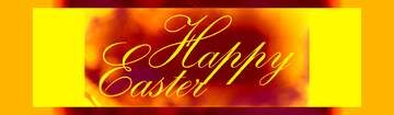 Happy Easter  lettering label yellow