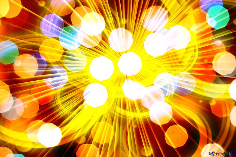 Background of bright colors lights and rays №24618