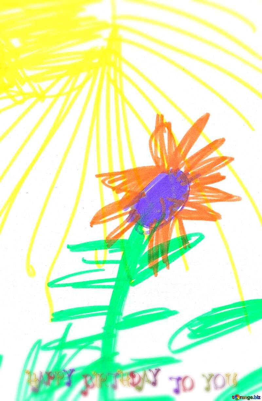 Drawing child art nice happy birthday pics №18678