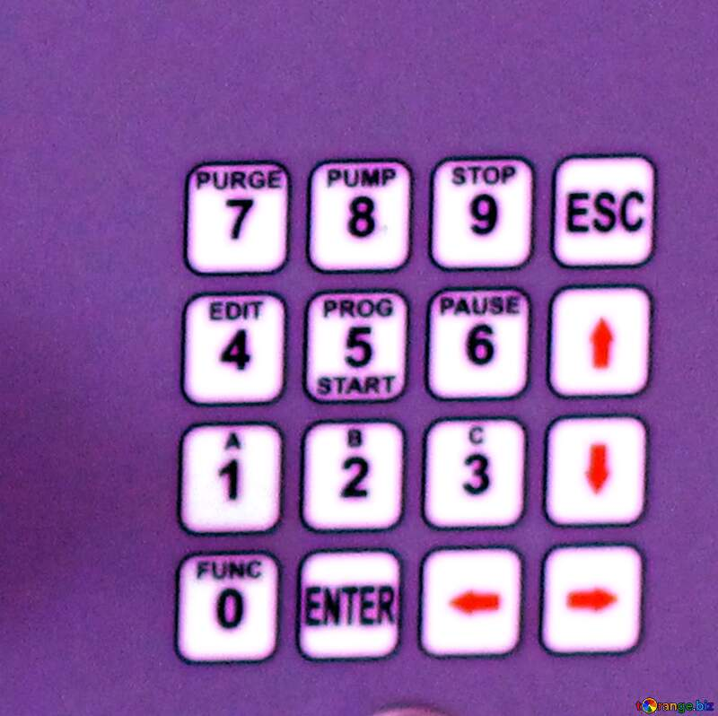 Educational toy electric blue keypad №54660