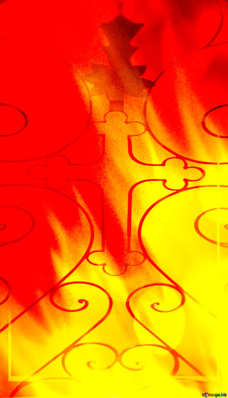 Fire Cross Background. №9546