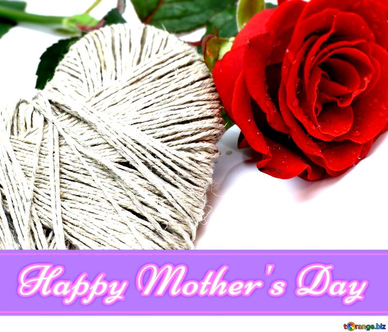 Flower and heart Lettering Happy Mothers Day №16864