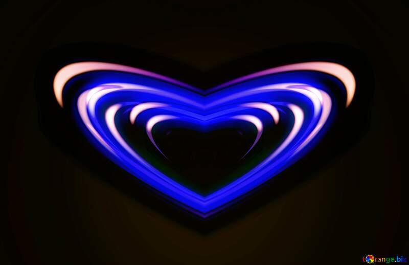 Glow blue heart №54928