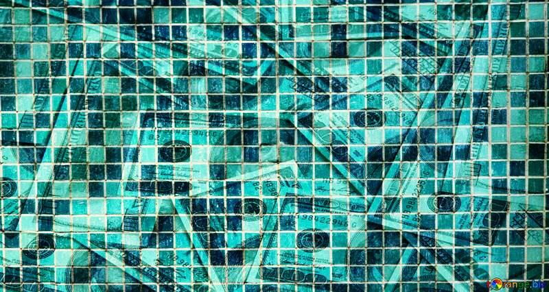 Mosaic tiles money funny background №12772