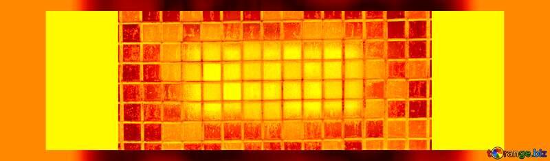 Orange material property heat background №12772
