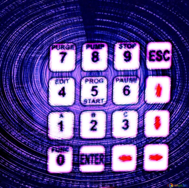 security keypad digital blue background №54660