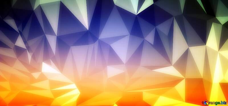 Sunset polygonal Gradient №16062