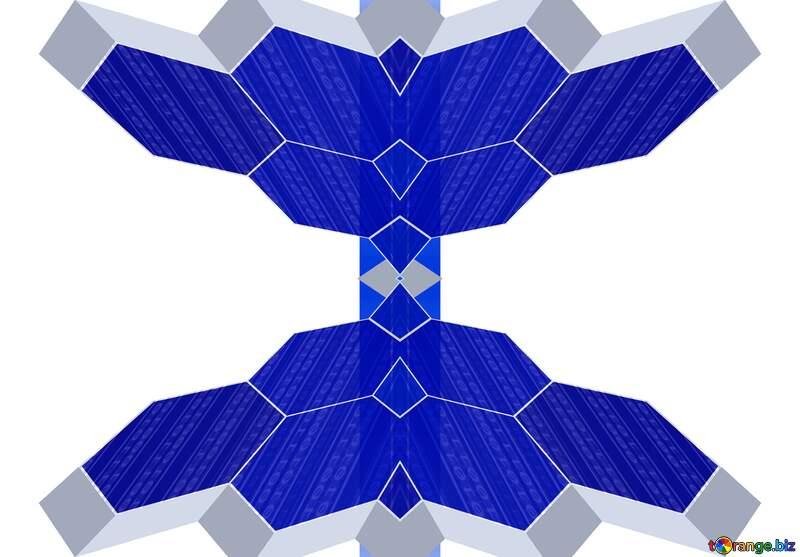 Symmetry creative arts electric blue triangle illustration blue clipart №49674