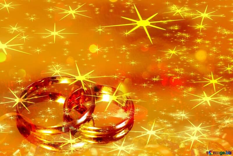 wedding  gold rings  stars background №7143