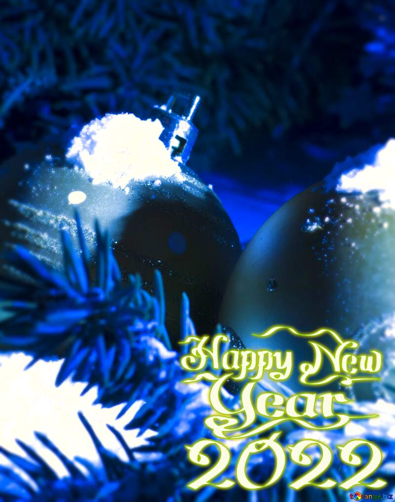 Christmas card blur frame happy new year 2021 №15370