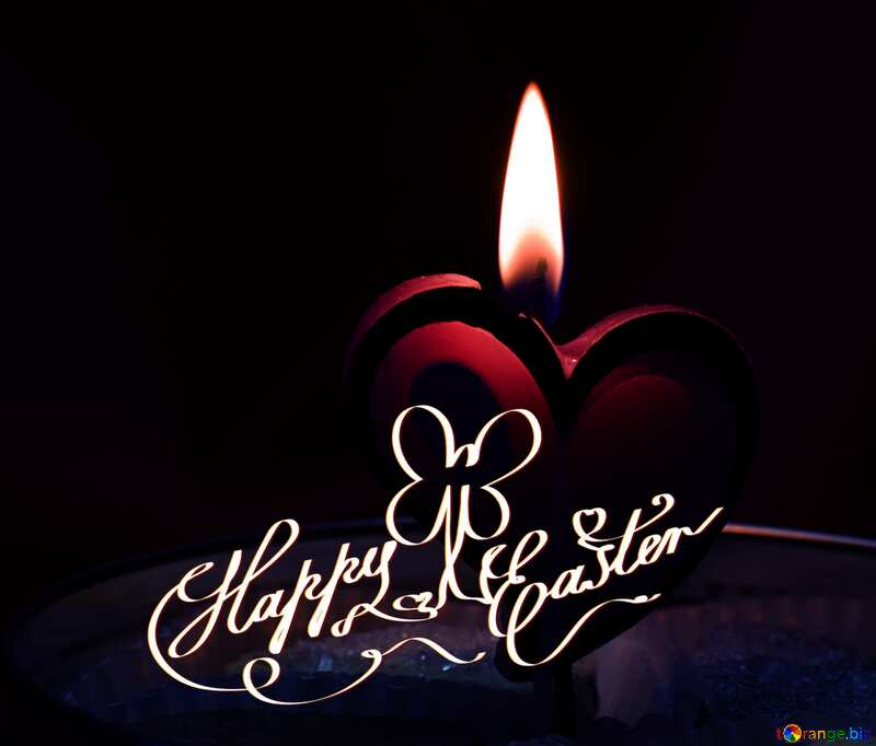 Candle happy Easter №17606