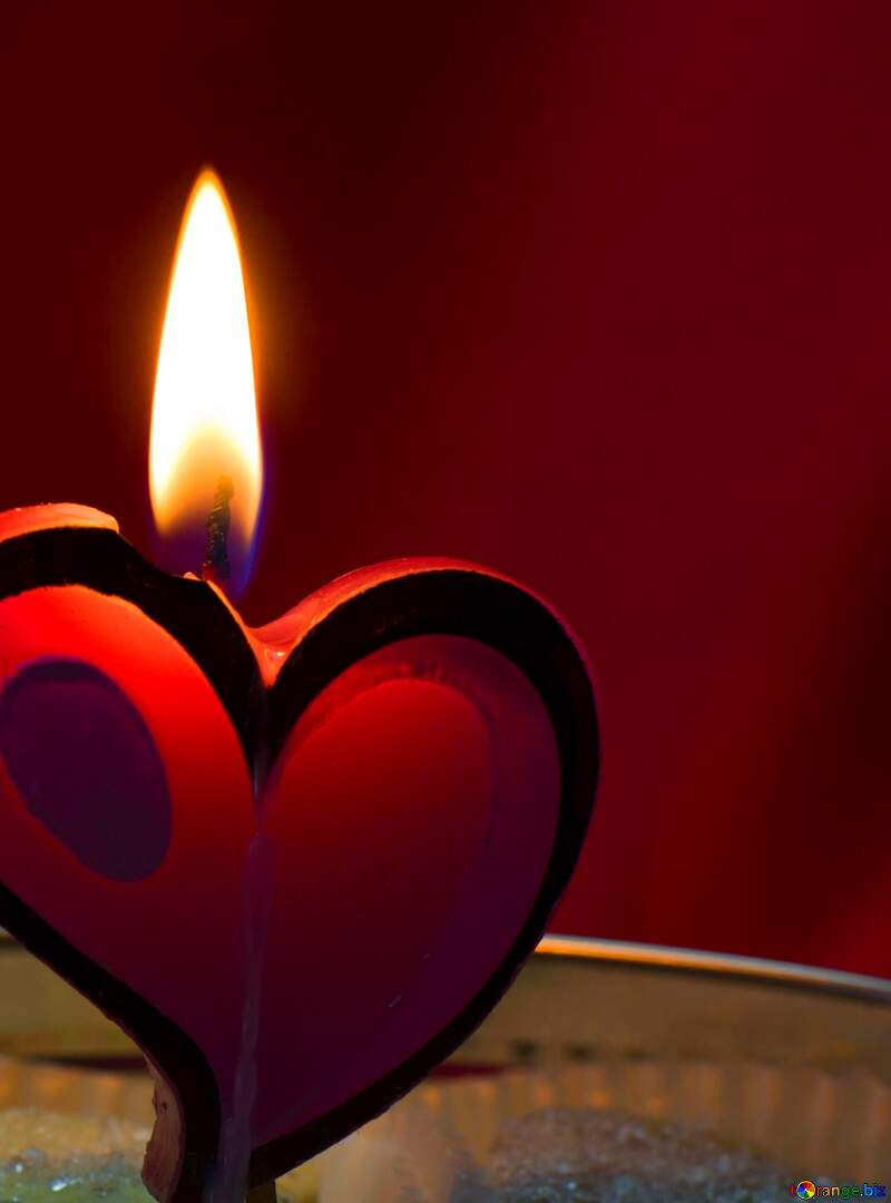Candle in the form of heart fragment №17606