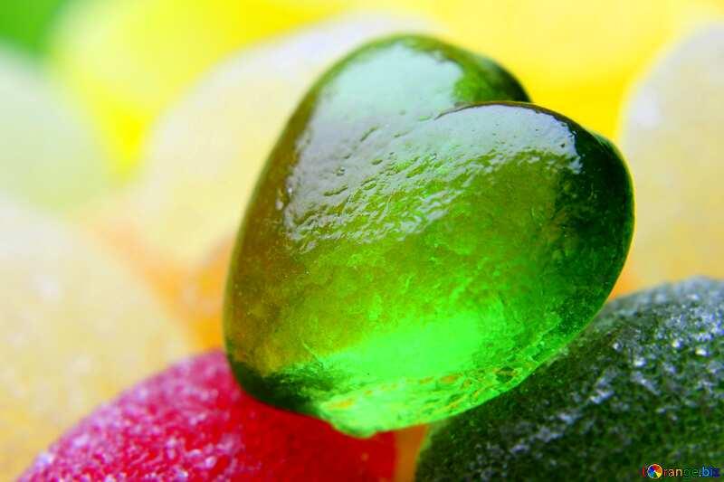 A beautiful green heart blur frame №18751