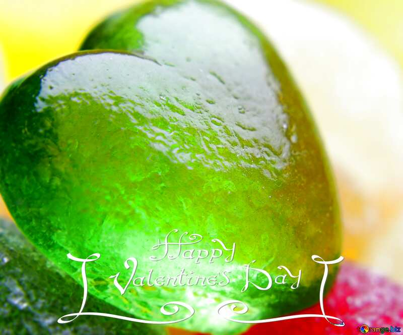 valentines day  green heart №18751
