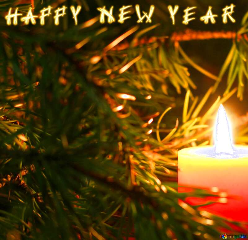 Christmas card with candles  №24632