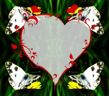 The effect of the hard dark. Vivid Colors. Fragment. Pattern Heart.