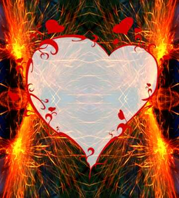 The effect of the hard dark. Very Vivid Colours. Fragment. Pattern Heart.