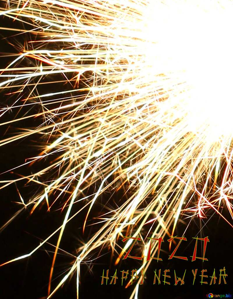 New years 2020 sparks background №25625