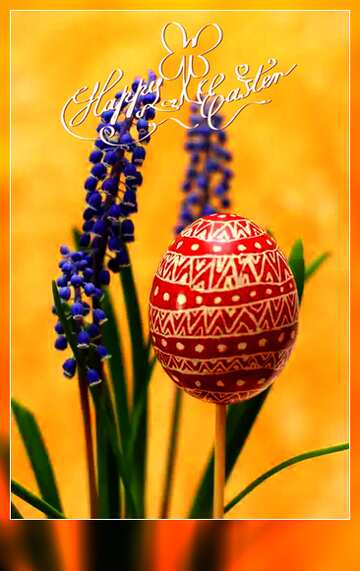 The effect of the dark. Very Vivid Colours. Blur dark frame. Happy Easter card.