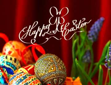 Vivid Colors. Fragment. Happy Easter card.