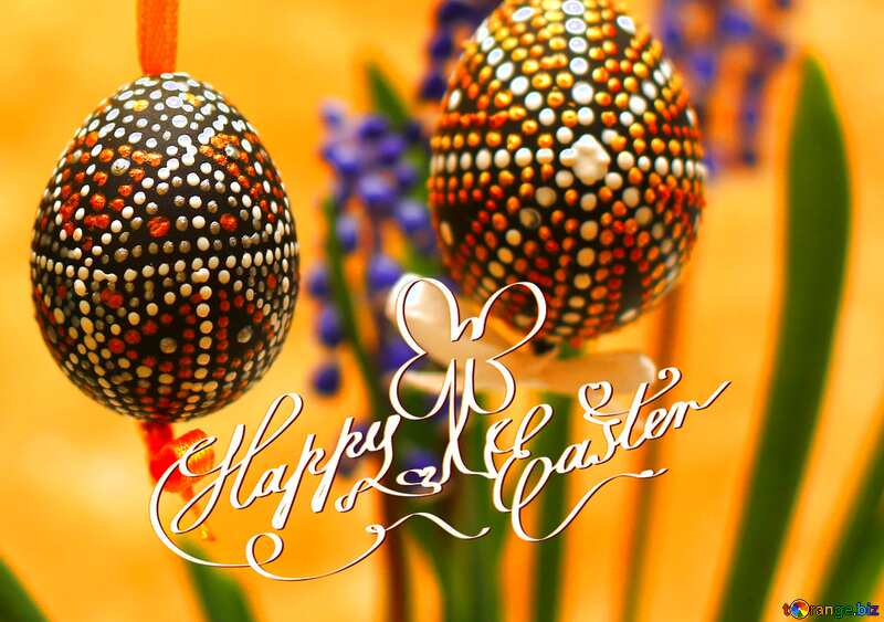 happy Easter Painted eggs №29801