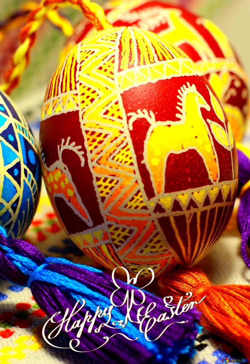 Easter eggs drawings happy easter card №29380