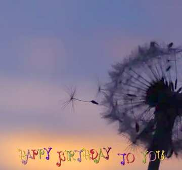 The effect of hard light. Vivid Colors. Fragment. Happy Birthday card.
