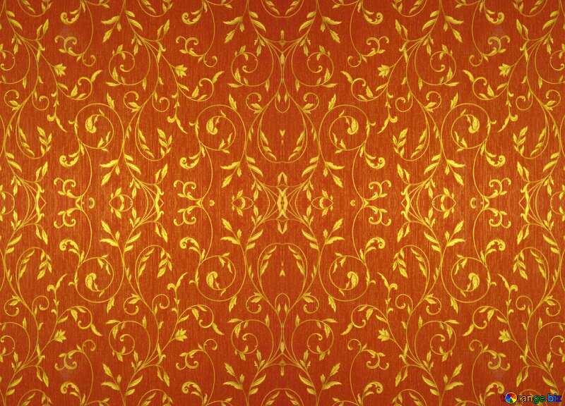Rich orange  pattern №36317