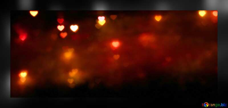 Yellow hearts on a dark red image background №37856