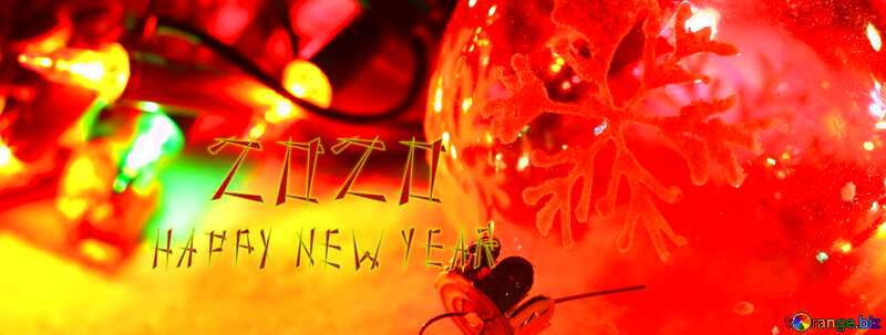 Greeting new year 2020 background №37911