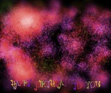 Die Wirkung der Spiegel. Die Wirkung von blau gefärbt. Die Wirkung der Makro verwischt die oben und unten. Postkarte Alles Gute zum Geburtstag in Englisch.