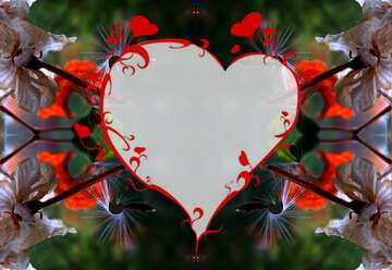 The effect of the hard dark. Very Vivid Colours. Pattern Heart.