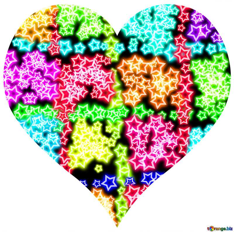 Colorful heart №39924