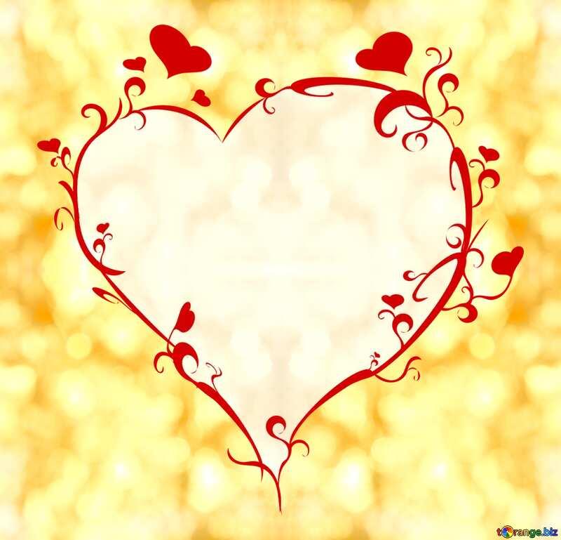 Heart gold frame №37819