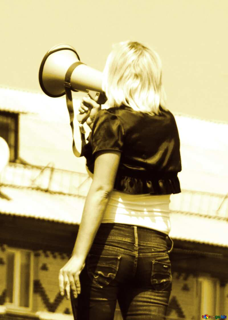 Woman with megaphone №14616