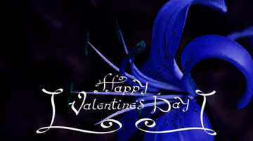 The effect of the hard dark. The effect of stained blue. Fragment. Happy Valentine's Day.