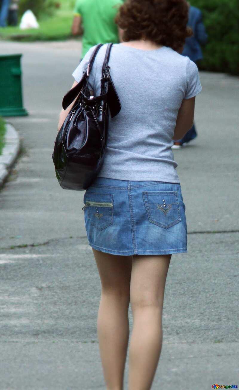 Girl  skirt handbag. №5092