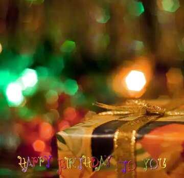 Die Wirkung von Licht. Sehr klare Farben. Bruchstück. Postkarte Alles Gute zum Geburtstag in Englisch.
