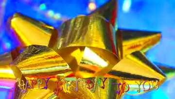 Sehr klare Farben. Bruchstück. Postkarte Alles Gute zum Geburtstag in Englisch.