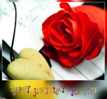 Vivid Colors. Blur dark frame. Fragment. Happy Birthday card.