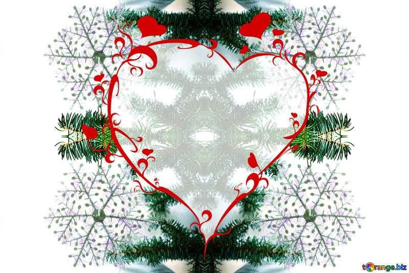 snowflake heart background №6795