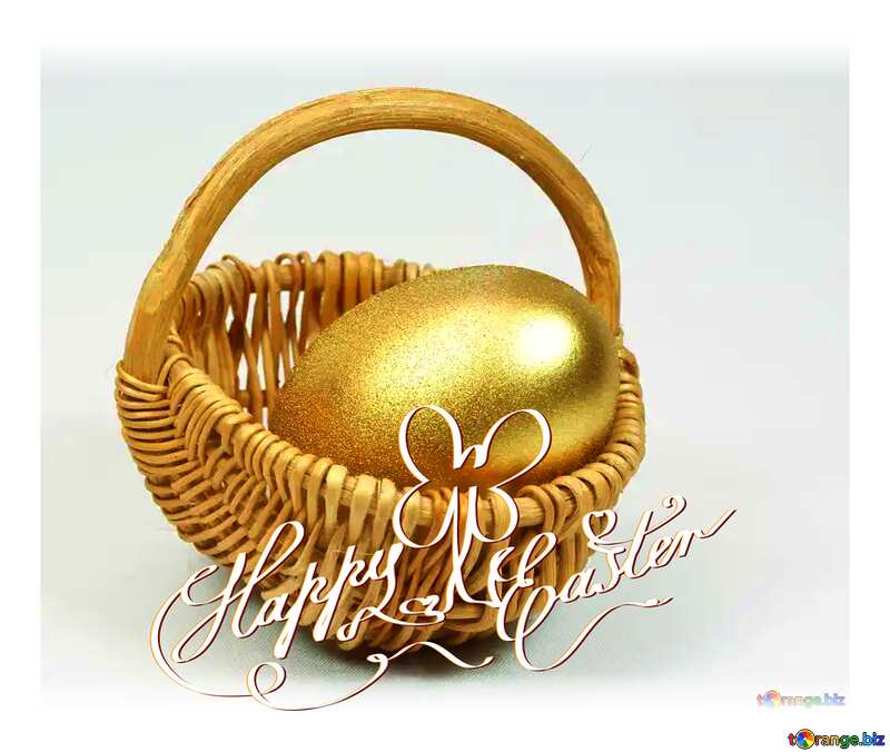 Happy  Easter Egg Gold №8243