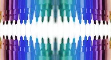Die Wirkung von blau gefärbt. Bruchstück. Muster.