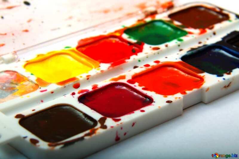 Яркие цвета. Акварельные краски. №18025