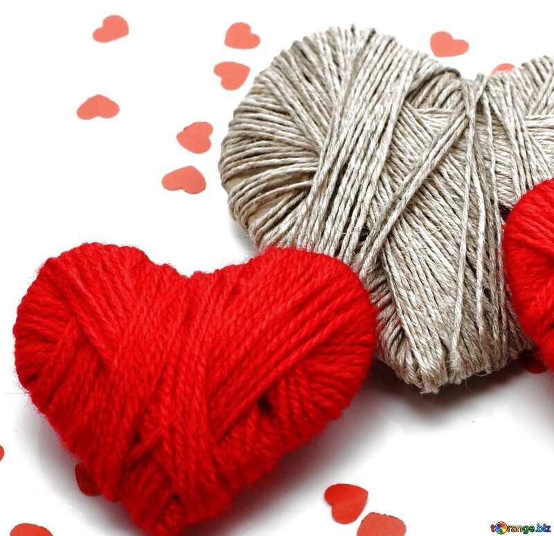 love heart shaped wool №16408