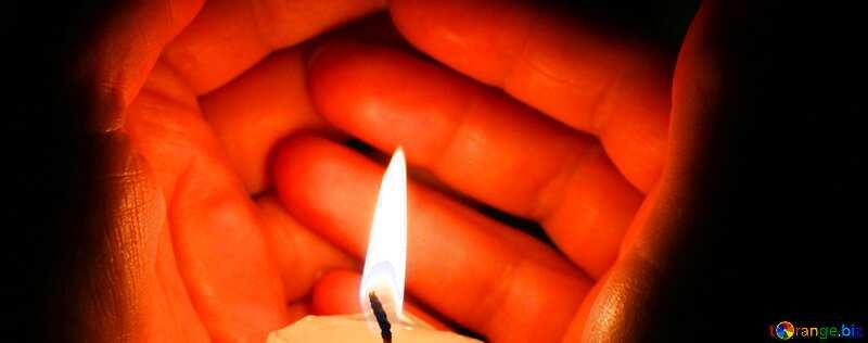 Обложка. Свеча в руках. №18118