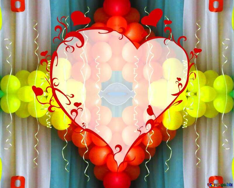 Boules rouges jaunes party №22107