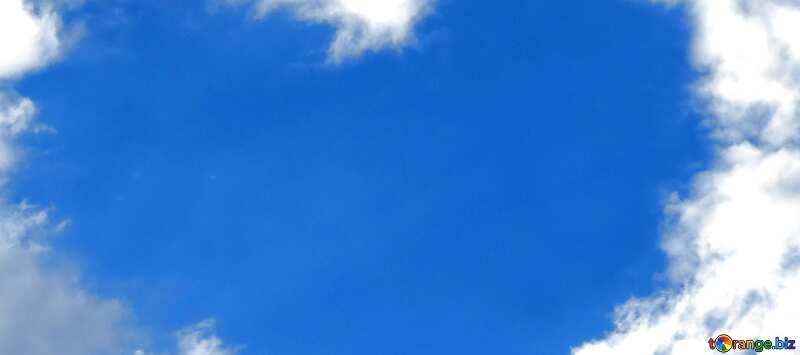 Обложка. Сердечко из облаков. №22604