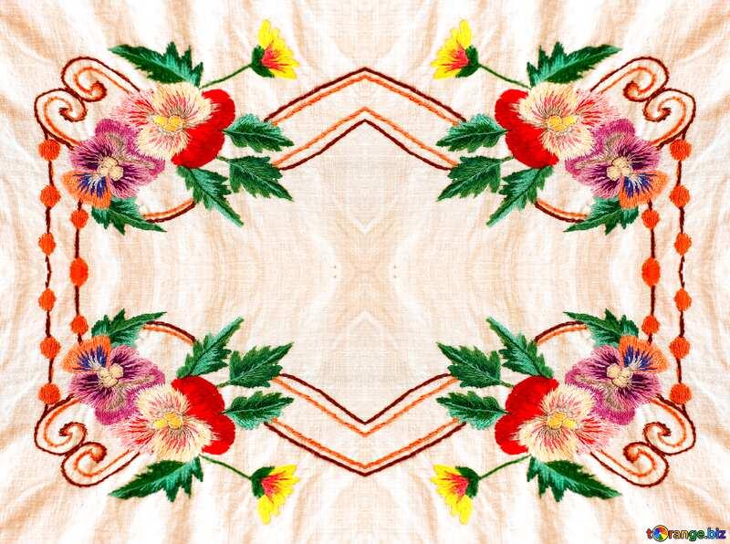 Лучшие картинки. Старинное народное украшение одежды вышивкой. Текстура.. №23479